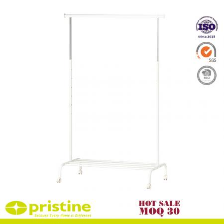 Single Garment Rack Adjustable Clothes Rail - portable clothes closet