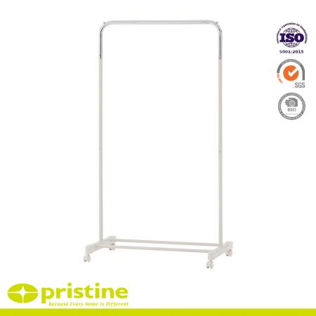 Single Garment Rack with wheel - simple houseware closet hanging clothing garment rack with wheels