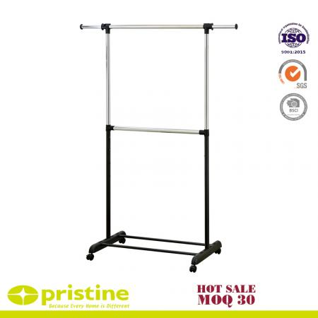 Adjustable 2-Rod Garment Rack - Garment rack