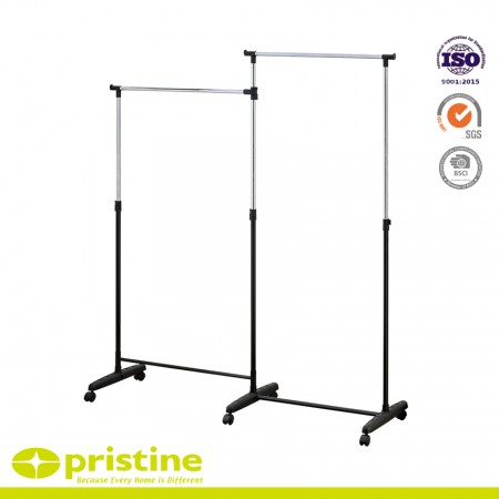 Portable Double Rail Clothes Garment Rack - Metal clothes rack