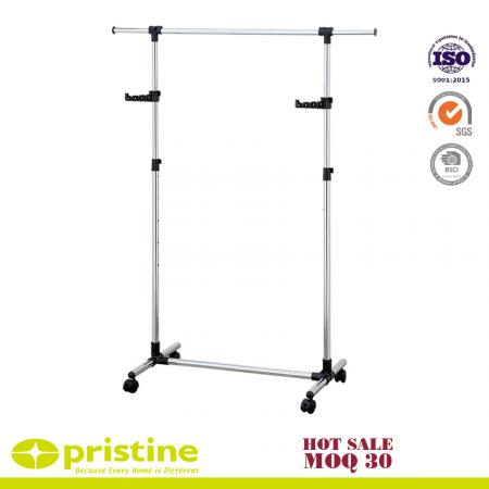 Heavy Duty Height Adjustable Rolling Clothing Garment Rack - Hanging clothes rack