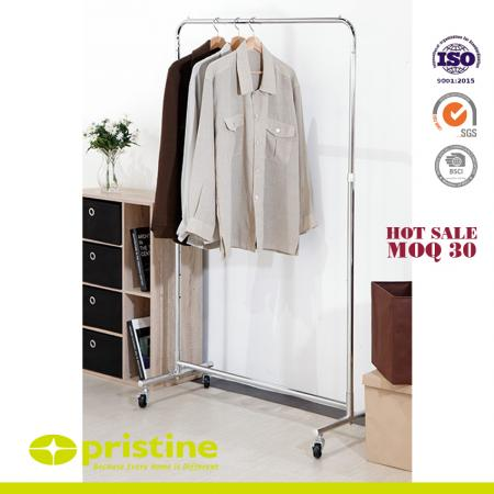 Heavy Duty Single Rail Clothes Rack on Wheels - Simple Houseware Heavy Duty Clothing Garment Rack Chrome