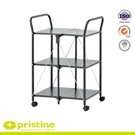 3 Tier Foldable Kitchen Cart - kitchen trolley