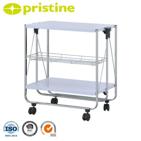 Folable Kitchen Cart - Easily foldable to save space.