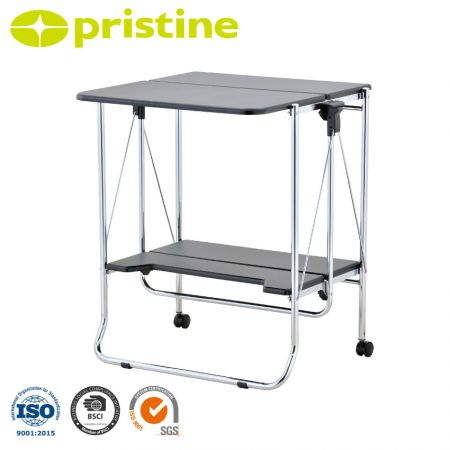 Folable Table cart - Simple push the levers up to fold the cart.