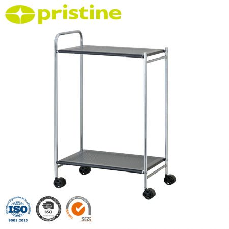 Kitchen Cart with Metal Shelf - Contemporary design, lightweight and easy to move.