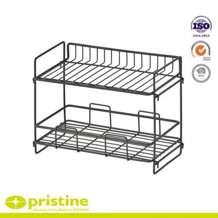 Taiwan Manufacturer 2-Tier Kitchen Wire Storage