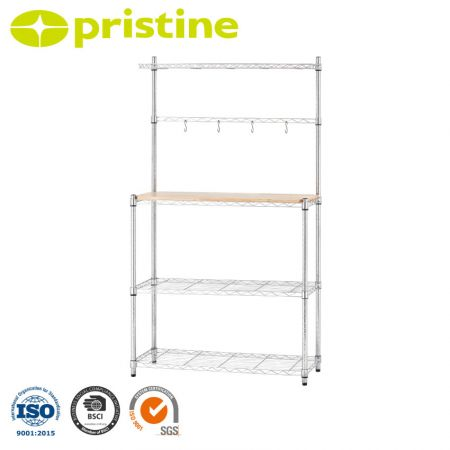 Fuctional Kitchen Shelf with Metal