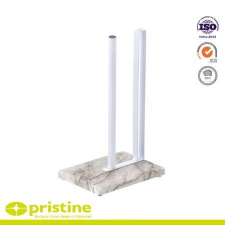 Porte-serviettes en papier de cuisine avec base en marbre - Porte-serviettes de cuisine en papier marbré