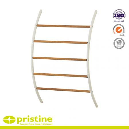 Wall Mounted Towel Rail With Wood Grain