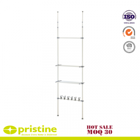 Ceiling Telescopic Storage Shelving - Telescopic wardrobe organiser