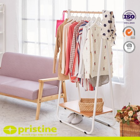 Wood Shoe And Coat Rack, Garment Storage Organizer - Clothes hanging stand
