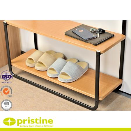 Durable 2 shelves that keeps your clothing, shoes, boots, pants and accessories organized