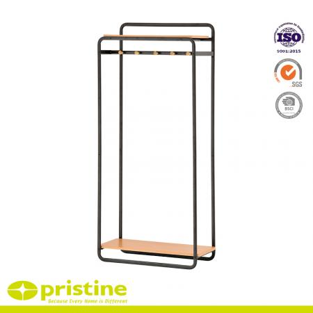 Multifunctional Clothing Rack - This hanger has many additional features and is integrated with the MDF board