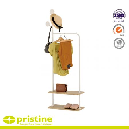 Provides extra closet space for organizing everyday garments or hanging seasonal clothes