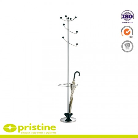 Metal Coat Rack Stand with Umbrella Holder - Elegant coat rack