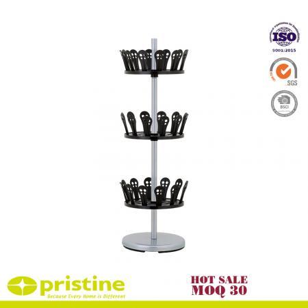 3-Tier Revolving Shoe Stand - excelvan 3 tier revolving shoe organizer rack shoe tree