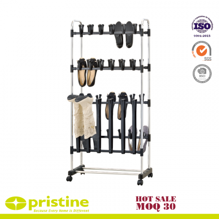 Shoe Rack for 36 Pairs of Shoes and 3 Pairs of Boots - provides additional storage space