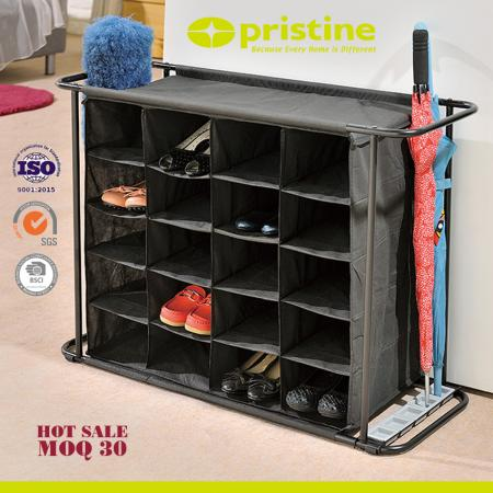 20 Cube Shoe Rack Cabinet with Umbrella Stand
