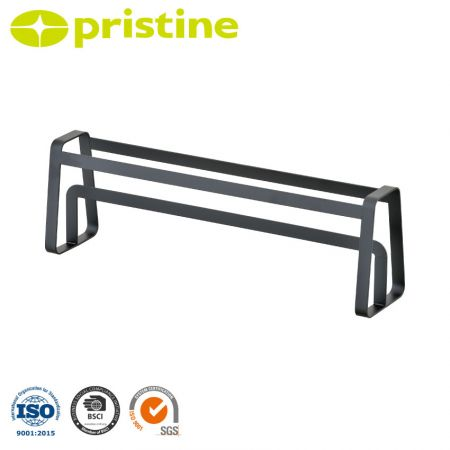 Slipper Holder Rack - Powder-coated metal frame anti-rust and corrosion water.