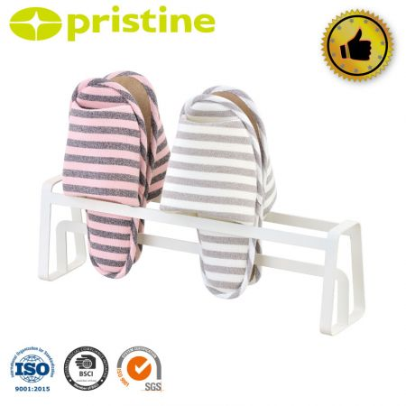 Metal Slippers Storage Rack Holder - It is made of high quality steel and has the feature of anti-rust.