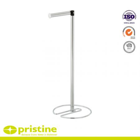 Free Standing Toilet Roll Holder with Simple Style - Roll holder is free standing for easy movement