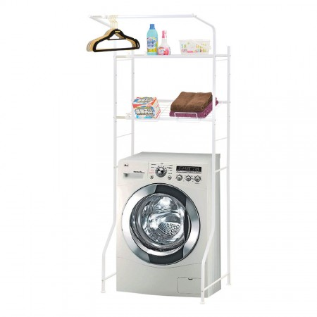 Washing Machine Overboard Height-Adjustable Storage shelf - Adjustable shelf unit. Make washing machine area clean and tidy