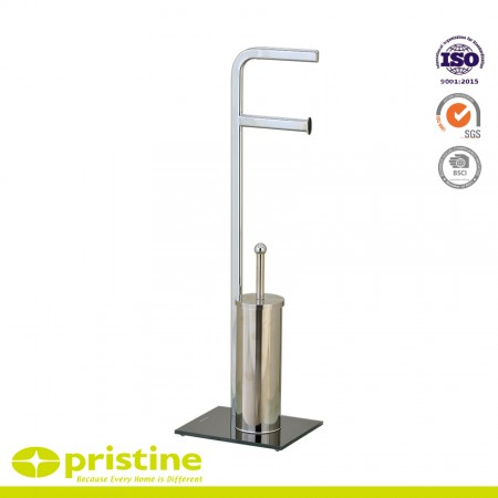 Free Standing Toilet Brush and Paper Holder - Toilet Brush & paper holder stand