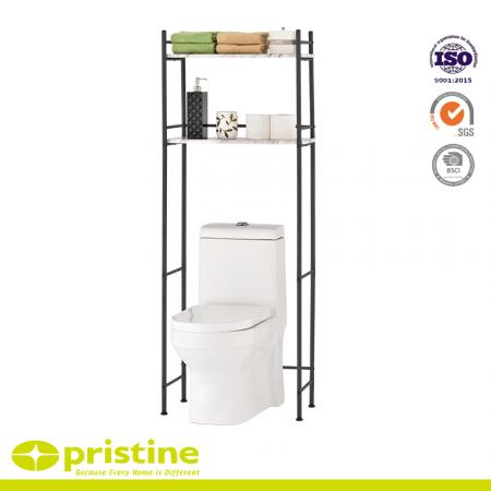 Économiseur d'espace de salle de bain avec panneau en marbre - L'économiseur d'espace offre une solution élégante pour avoir besoin de plus d'espace de stockage dans votre salle de bain.