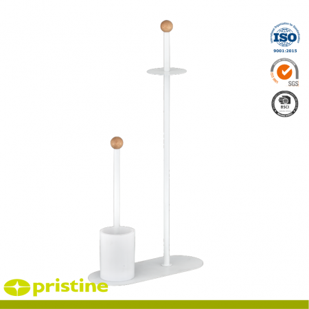 Toilet Paper Holder and Toilet Brush Stand - toilet rails freestanding
