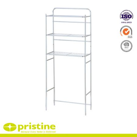 Over The Toilet Rack Bathroom 3 Shelf Organizer - The 3-Shelf Bathroom Space Saver is designed to fit over a standard-sized toilet.