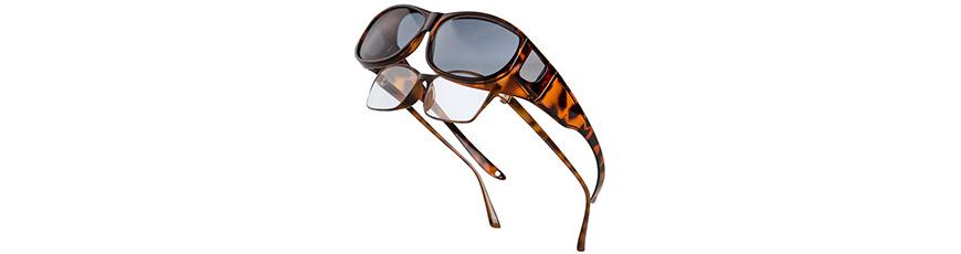 Über Brillen passen