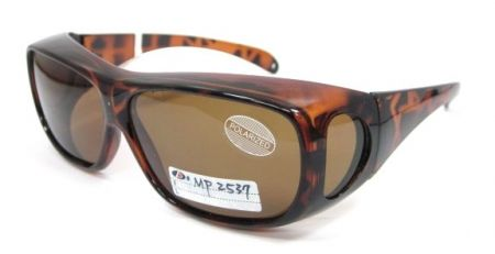 Fit-Overs Large Square frame - Demi frame with brown TAC Polarized lens