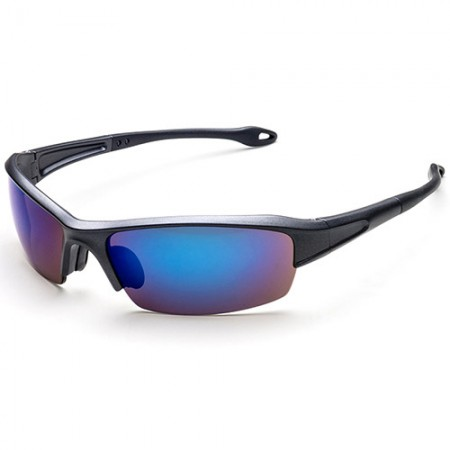 Semi Frame Active Sports Wrap Around Sunglasses