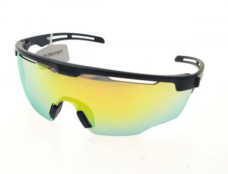 النظارات الشمسية الرياضية شبه الإطار للجنسين - نظارات شمسية رياضية بعدسات شبه هيكل / قطعة واحدة