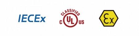 UL / ATEX / IECEx (مصباح يدوي) - شهادة UL للسلامة العامة / متطلبات الصحة والسلامة الأساسية ATEX / IECEx- معايير السلامة في المناطق الخطرة