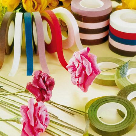 Cinta floral para flores frescas y artesanías