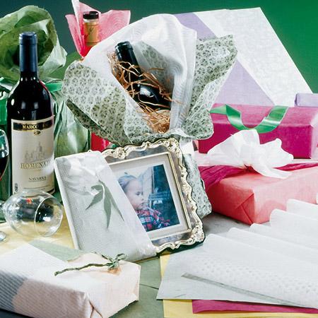 Papier d'emballage pour cadeaux, fleurs et travaux manuels