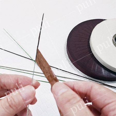 Papel de cobertura - Papel de enmascarar para alambre de tallo floral - Cinta de papel de enmascarar - Papel de recubrimiento de alambre para fabricante de alambre de tallo floral