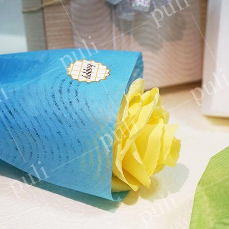 Papel de seda de regalo con marca de agua - Fabricante de papel de encaje