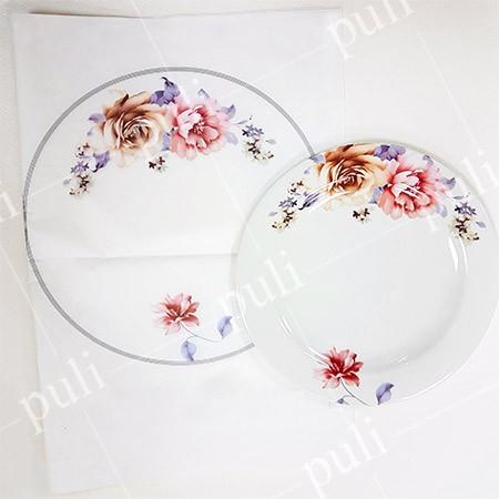 美耐皿紙 - 花紙