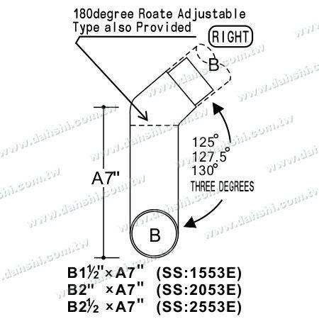 اتصالات داخلی گوشه پله داخلی استیل ضد زنگ - زاویه قابل تنظیم است - ابعاد : استنلس استیل دور لوله گوشه داخلی پله اتصال اضافی - زاویه قابل تنظیم است