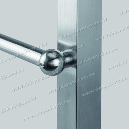 Stainless Steel Tube/Bar Holder Close End Flat Back - Stainless Steel Tube/Bar Holder Close End Flat Back