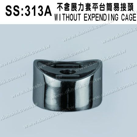 S.S. Round Tube Perp. Post Connector External Cap - Stainless Steel Round Tube Handrail Perpendicular Post Connector External Cap