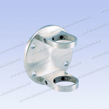 Stainless Steel Round Tube Handrail Bracket Round Back - Tube Through - Stainless Steel Round Tube Handrail Bracket Round Back - Tube Through