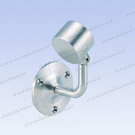 内部丸管手すり壁ブラケットエンド(左) - ネジ露出ブラケット-内部丸管手すり壁ブラケットエンド(左側)-角度調整可能