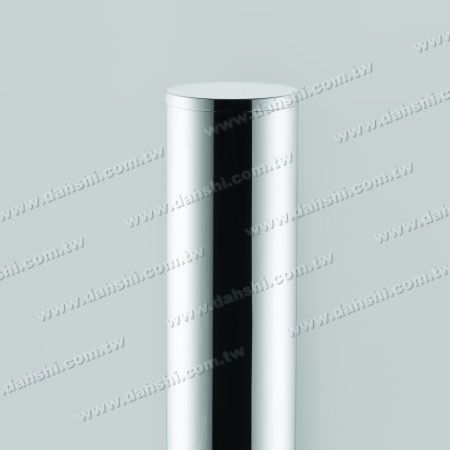 Stainless Steel Round Tube Flat Top End Cap with Fix Rim Design - Stainless Steel Round Tube Flat Top End Cap with Fix Rim Design