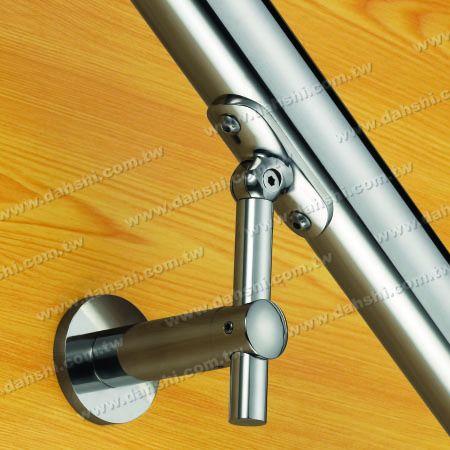 S.S. Round Tube Handrail Wall Bracket Adj. Height - Self-Tapping Screw - Stainless Steel Round Tube Handrail Wall Bracket Adjustable Height - Angle Adjustable