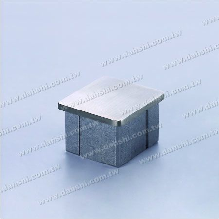 S.S. Square Tube Flat Top End Cap - Stainless Steel Square Tube Flat Top End Cap