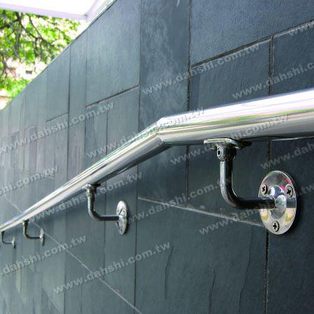 Stainless Steel Round Tube Handrail Wall Bracket - Angle Adjustable